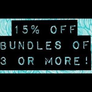 Bundle 15% off